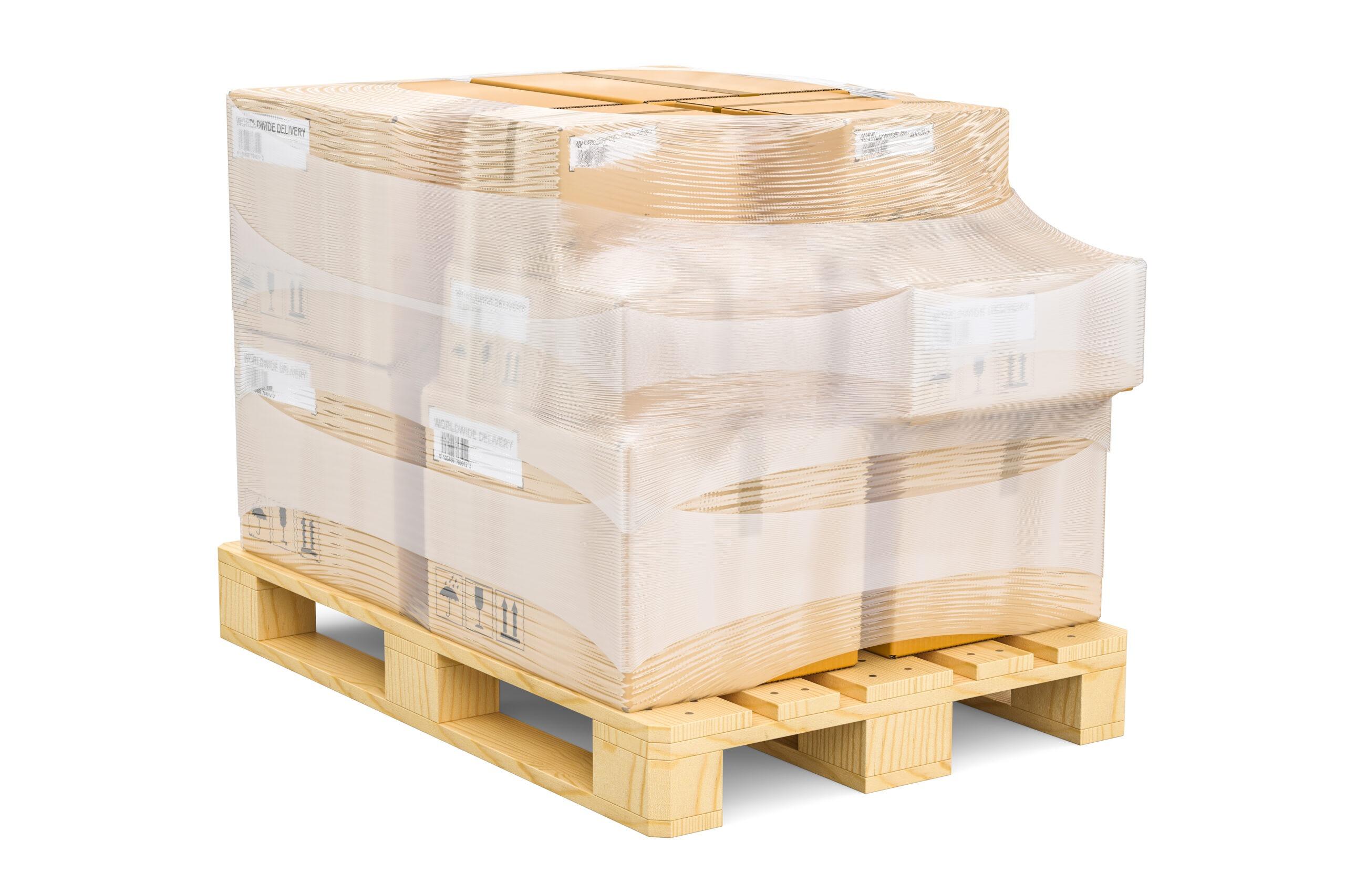 Przechowywanie towaru w postaci kartonów na palecie